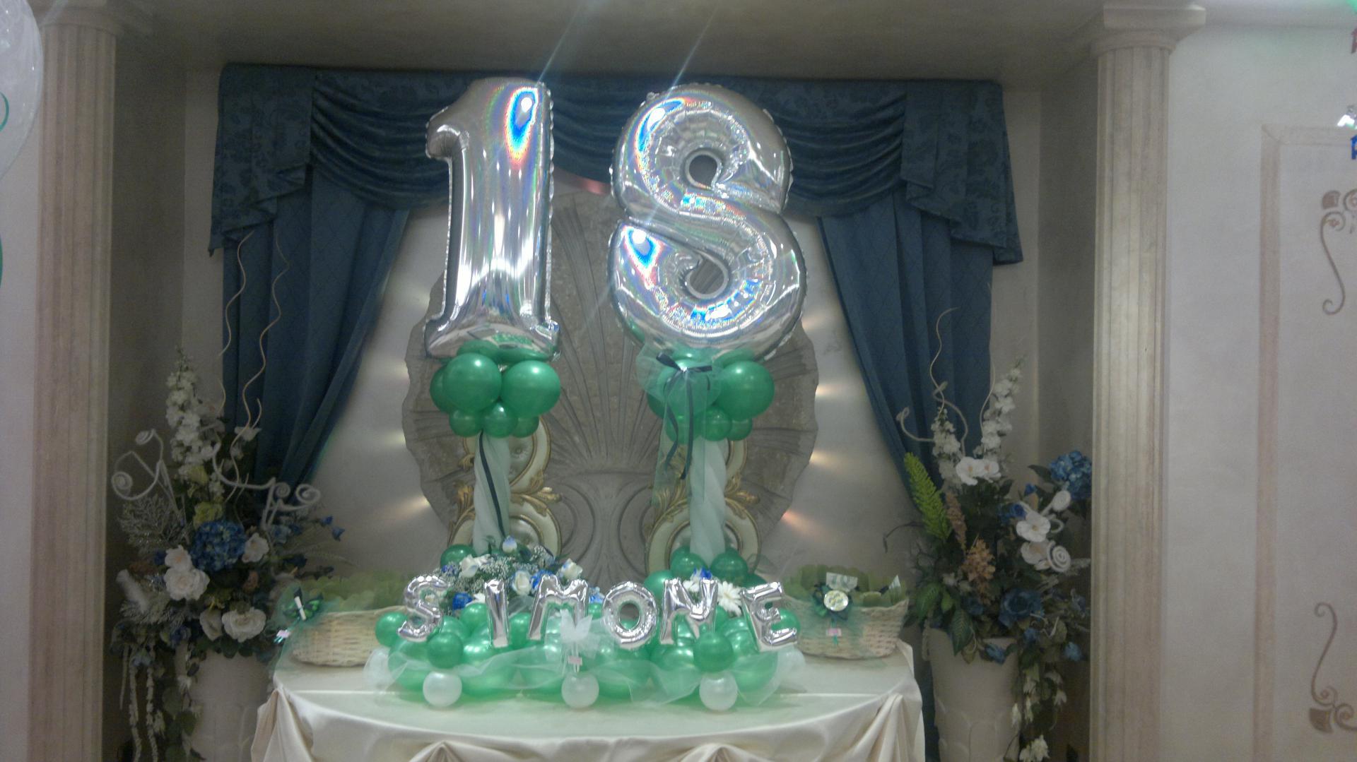 18 anni di luisanna simonelli roma ballon fantasy srl balloon art e party decoration - Addobbi tavoli per 18 anni ...